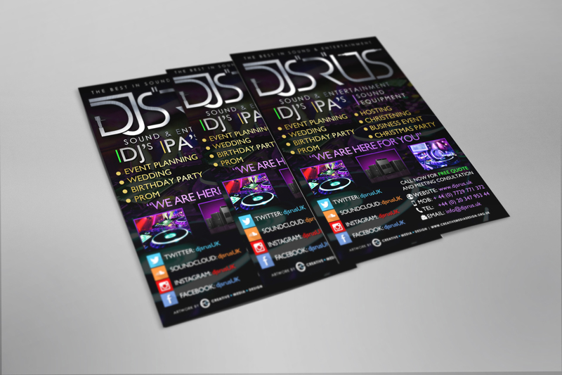 "NEW DJS ""R"" US FLYERS"