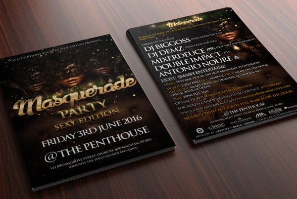 Club flyer, Graphics, Design