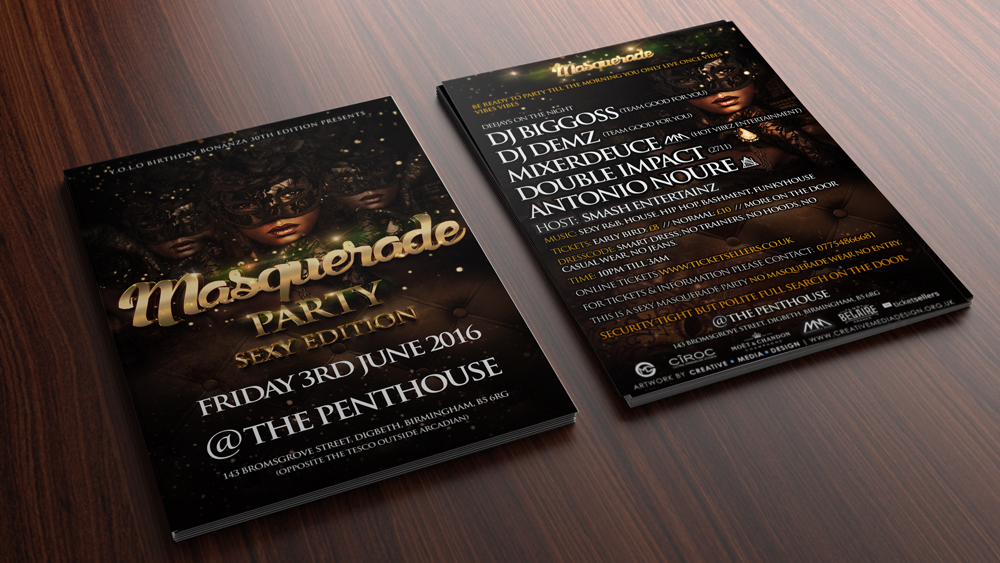 Club flyer, Graphics, Design