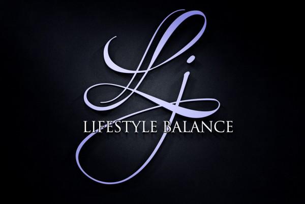 Lorna J Black Grey Logo