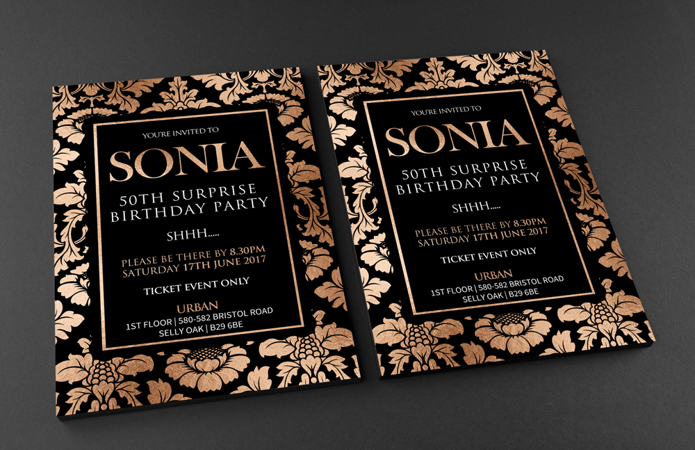 Birthday invitation creative media design birthday invitation sonia mockup web stopboris Choice Image