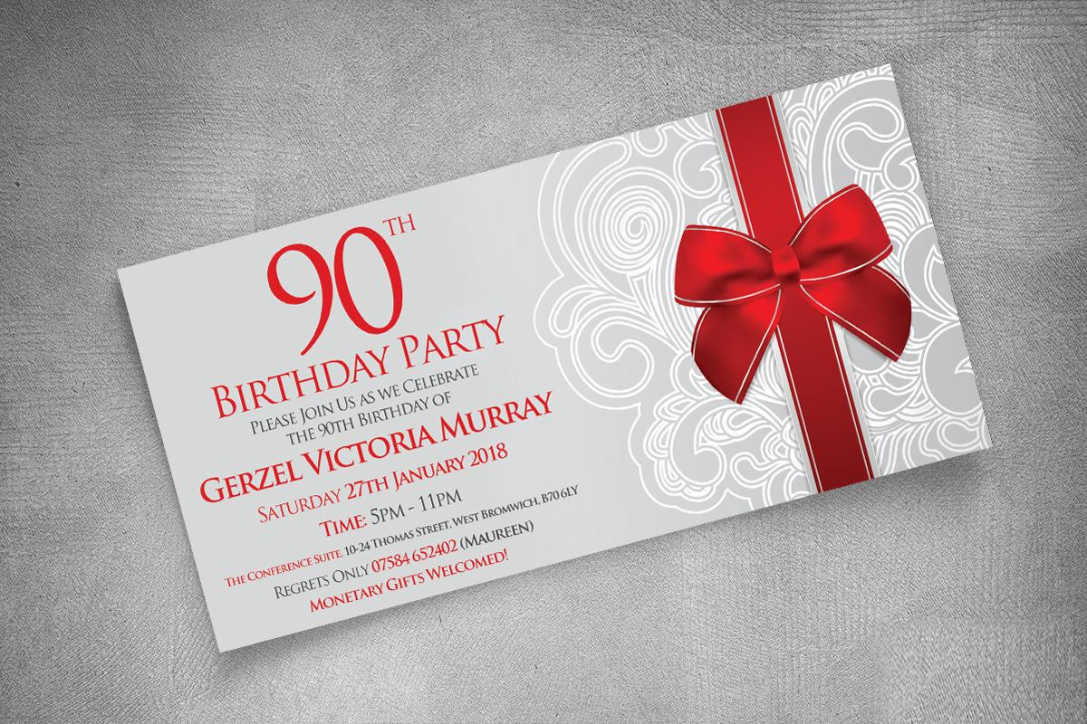 BIRTHDAY 90TH DL INVITE | CREATIVE | MEDIA | DESIGN