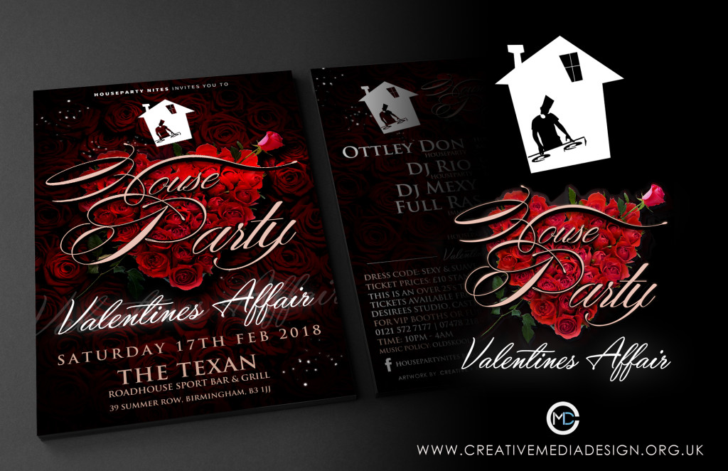 HOUSE PARTY A4 Front and Back Flyer