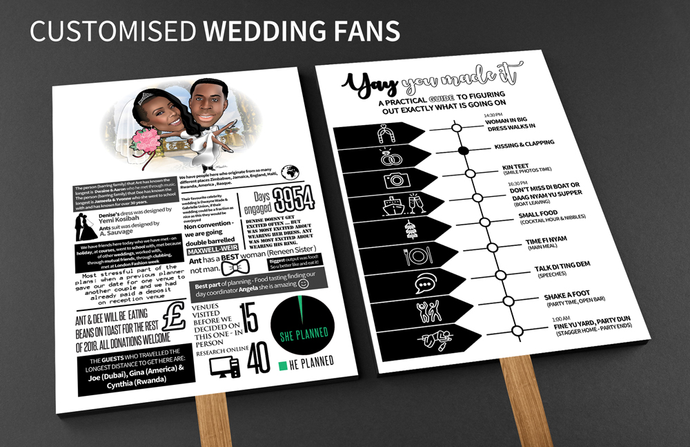 A&D CUSTOMISED WEDDING FANS
